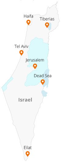 Find by Israel map