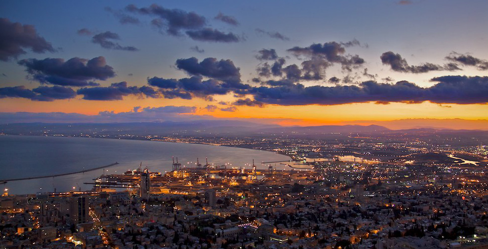 A beautiful view of Haifa and the Coastline Hotels