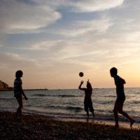 Kids playing in Jaffa Israel
