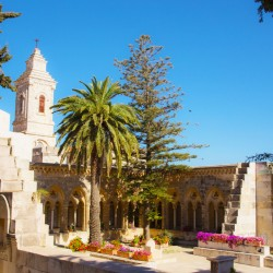 Pater Noster Church in Jerusalem gardens