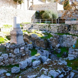 The Pool of Bethesda is located next to the St. Anne Church in Jerusalem