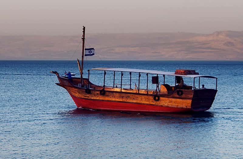 A view of the Sea of Galilee