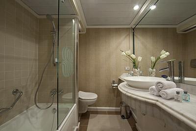 Bathroom option aboard the Sonesta
