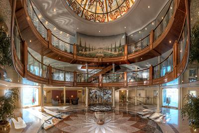 Interior of the Sonesta Moon Goddess cruise