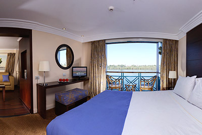 A bedroom option aboard the cruise