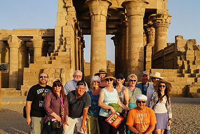 A photo in front of an ancient sites in Egypt