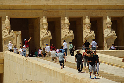 Arriving to one of the most important sites in Egypt