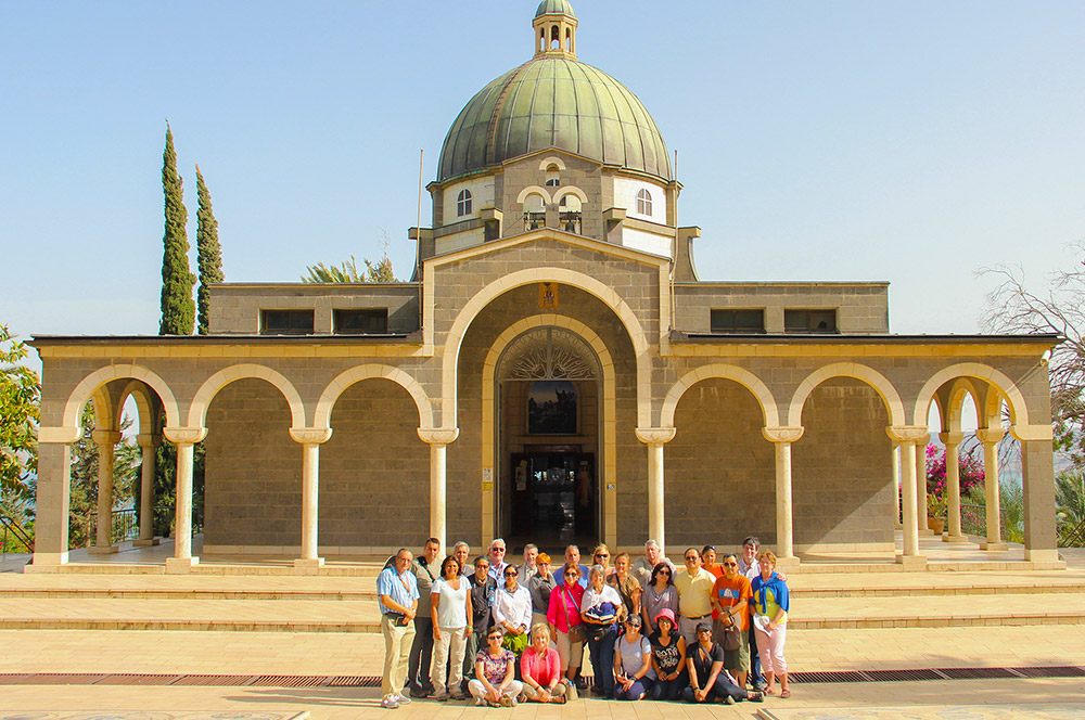 Visiting the Mount of Beatitudes in Israel