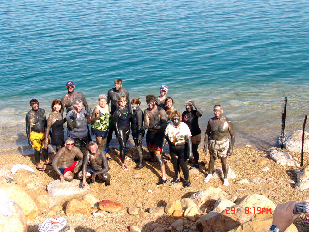 Mud bath at the Dead Sea
