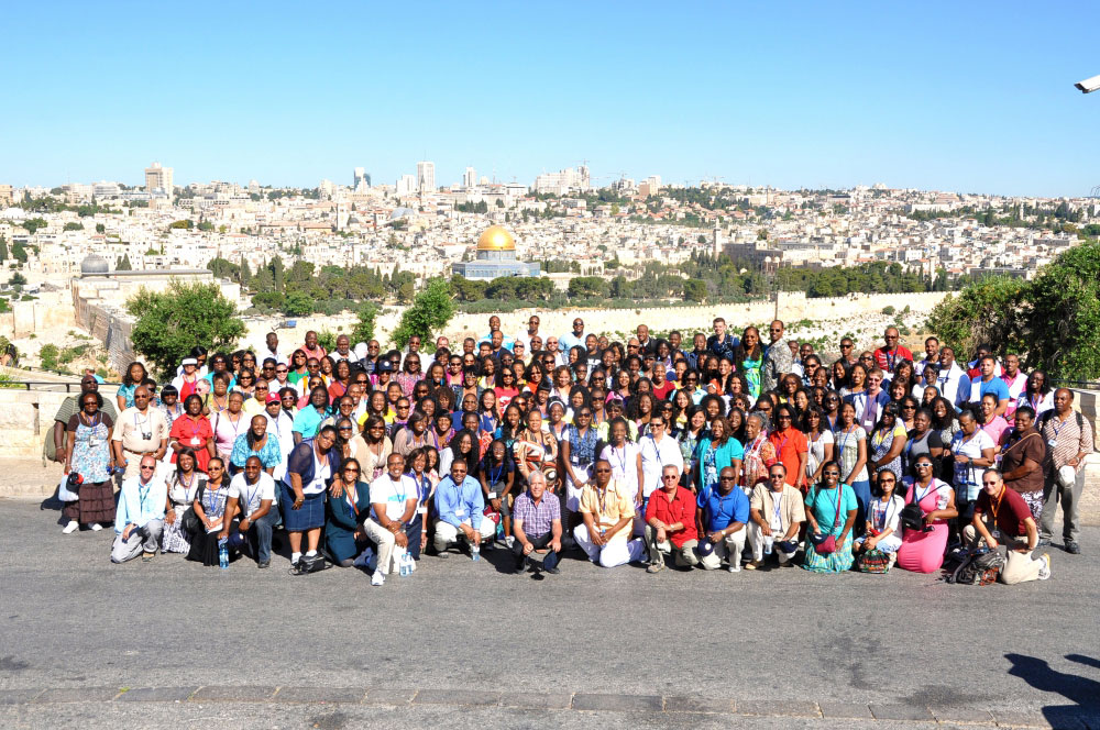 A large church group in Israel