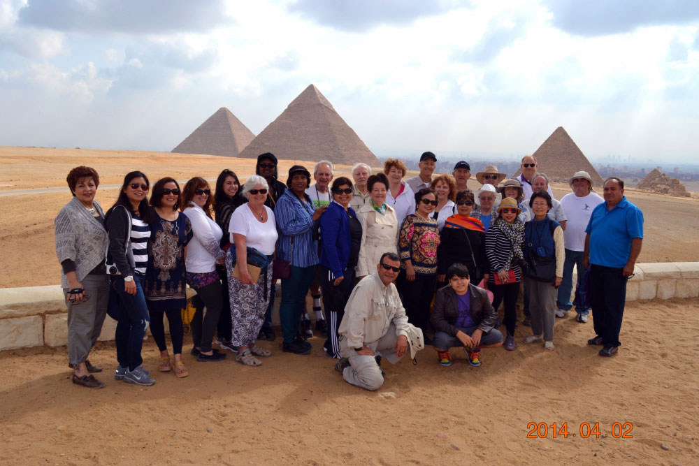 The pyramids are one of the most visited sites in the world
