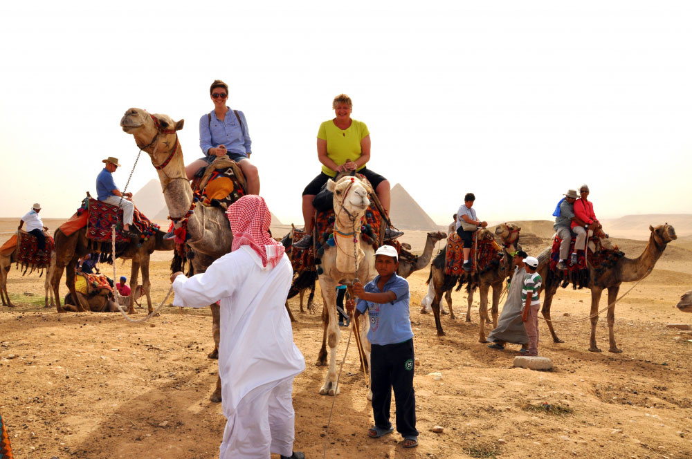 I had a lot of fun during our camel ride