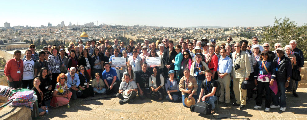 This large group had a great time in Jerusalem