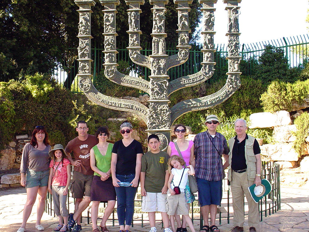 The main theme of the Knesset Menorah, which was a gift from the British Labor Party
