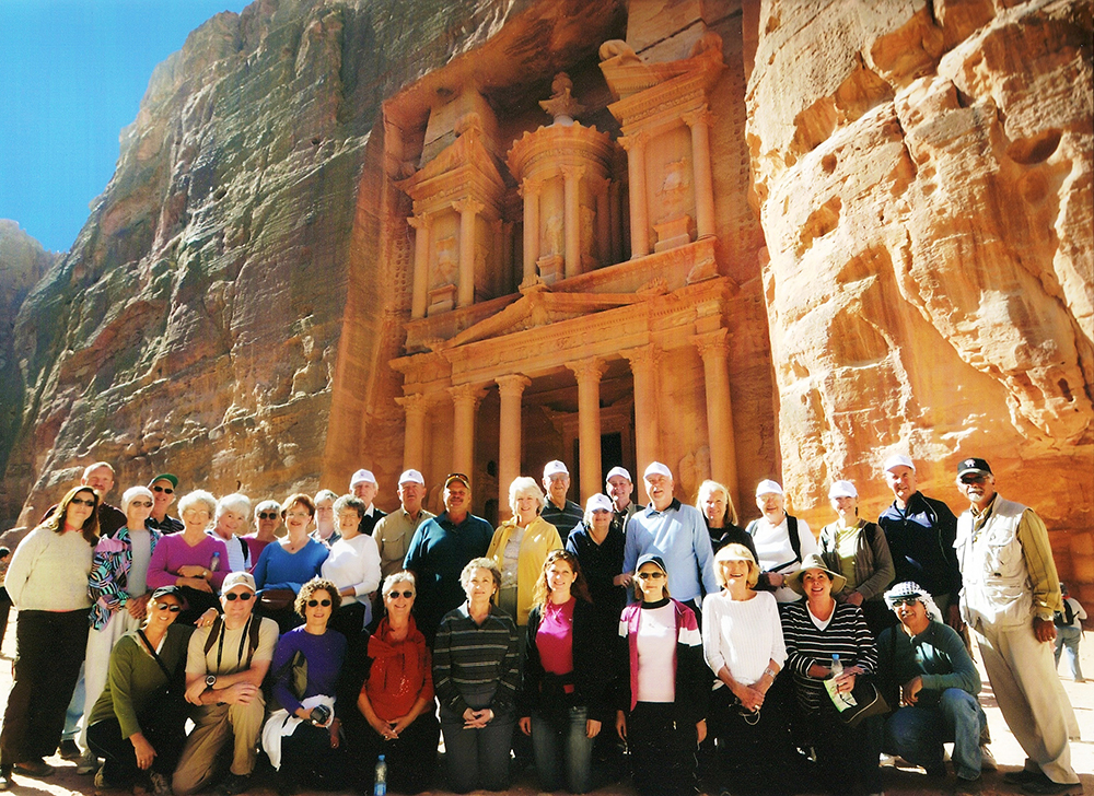 Petra originally known as Raqmu to the Nabataeans