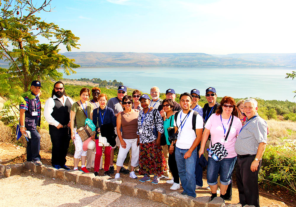 The Sea of Galilee is very impressive