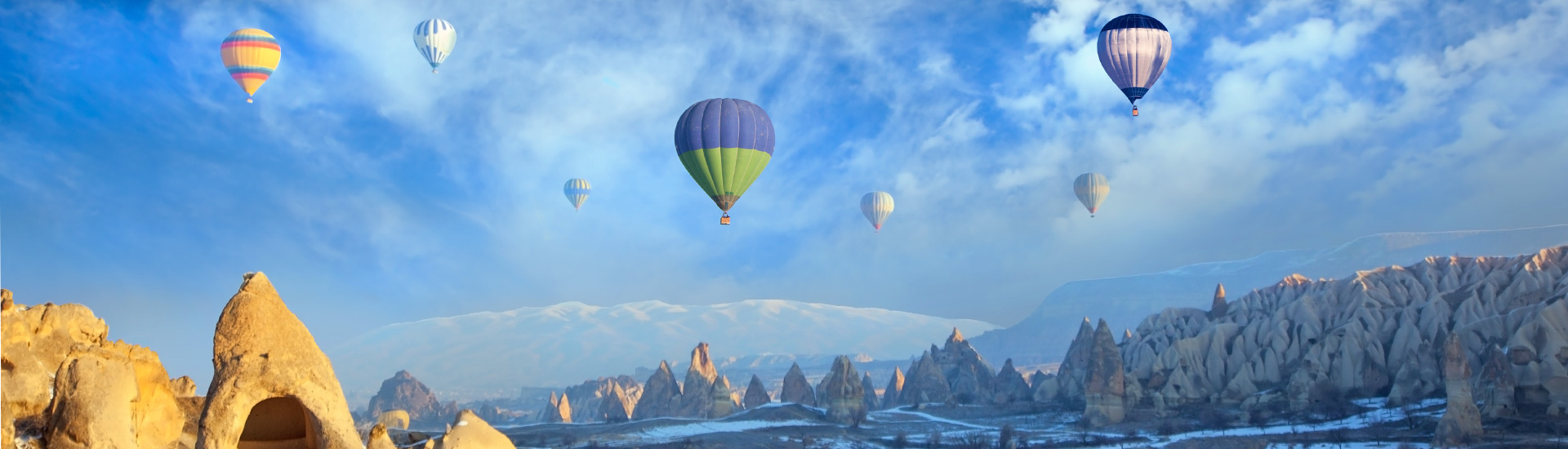 Take a hot air balloon ride across Turkey