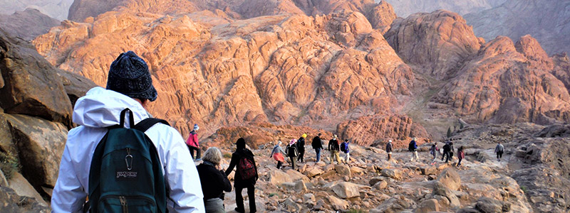 Climb Mount Sinai, where Moses received the Ten Commandments