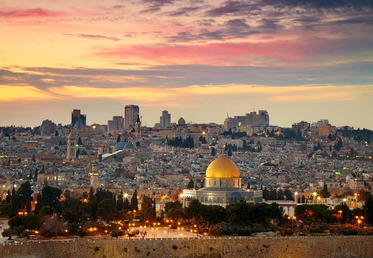 A view at dawn of Jerusalem