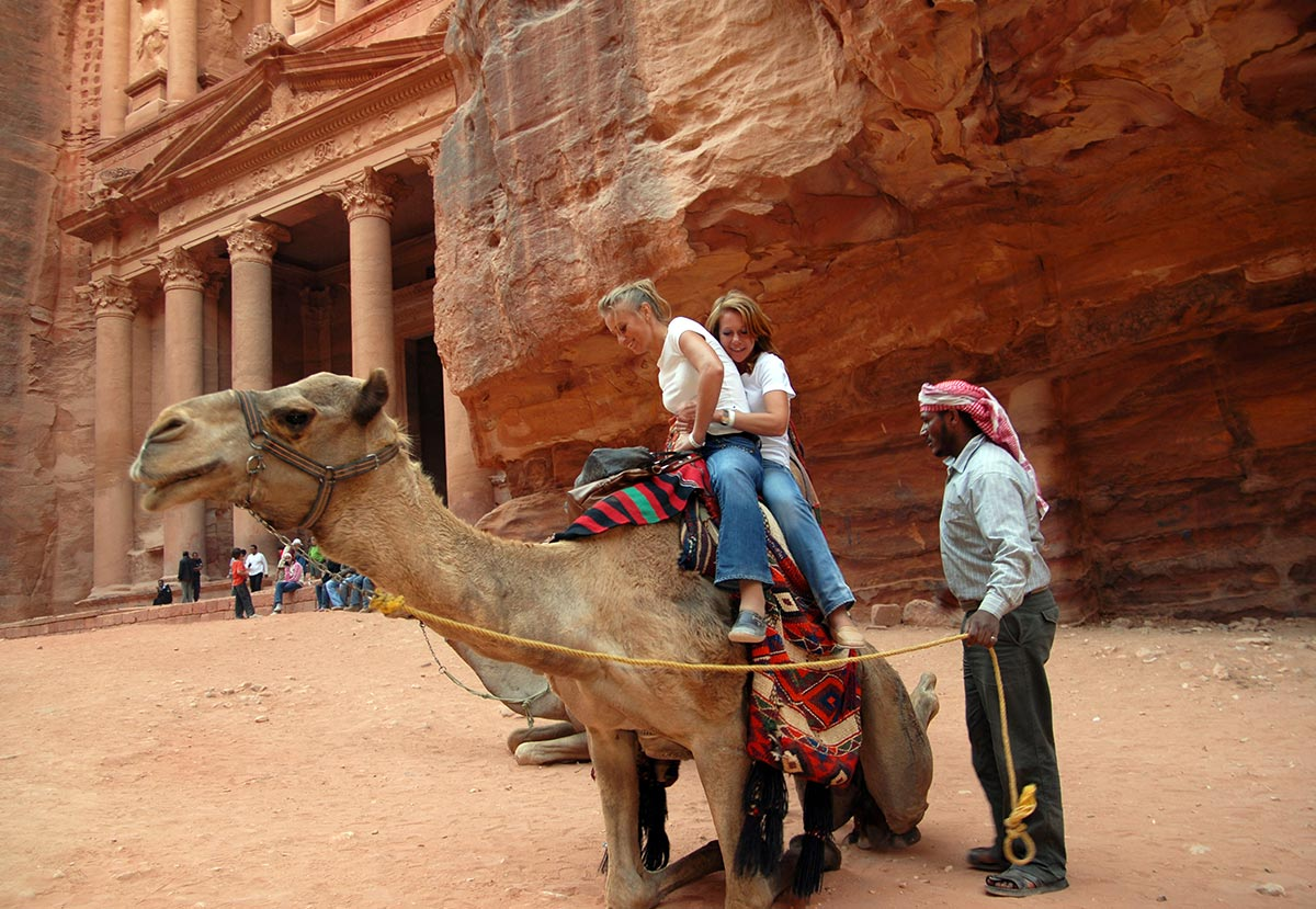 A camel ride in Petra
