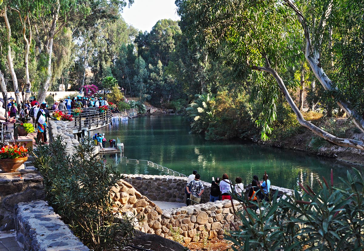 The Yardenit baptismal site is a must visit while visitng the Holy Land