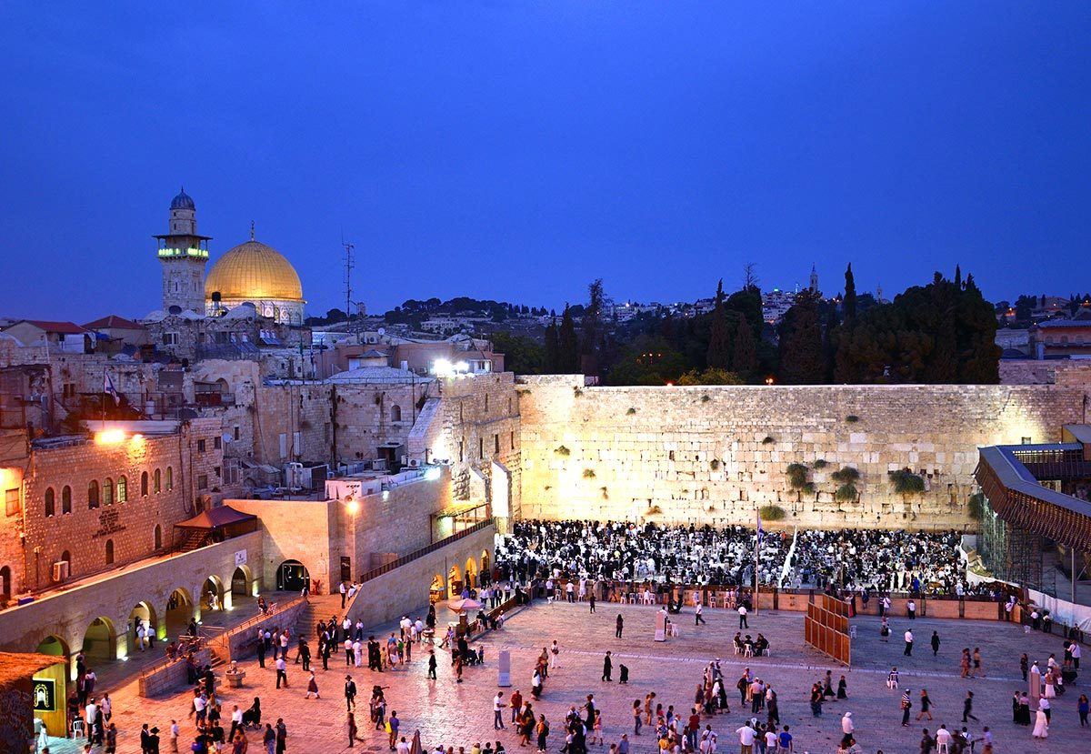 The Western Wall is a favorite spot in Israel
