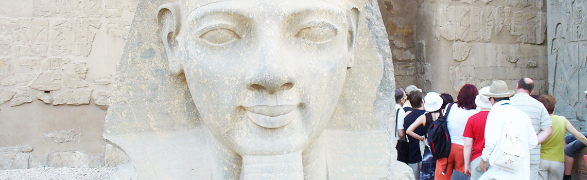 A sculpture located in the Luxor area of Egypt