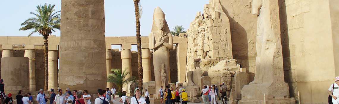 At night in Luxor