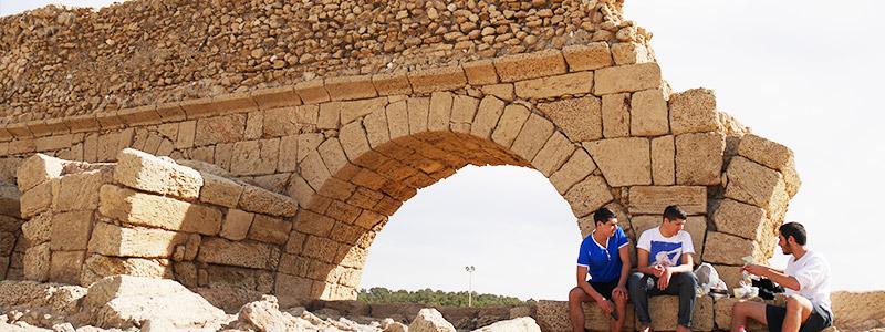 Roman aqueduct in Caesarea