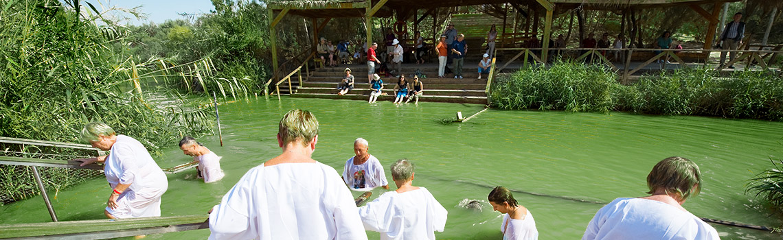 Qasr El Yahud is a baptism site in Israel