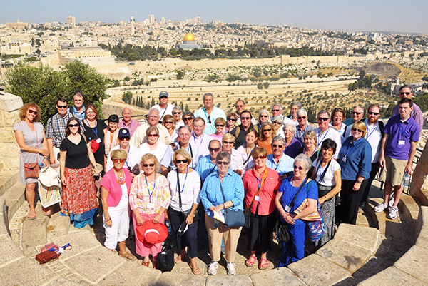 A group of second time travelers visiting Israel