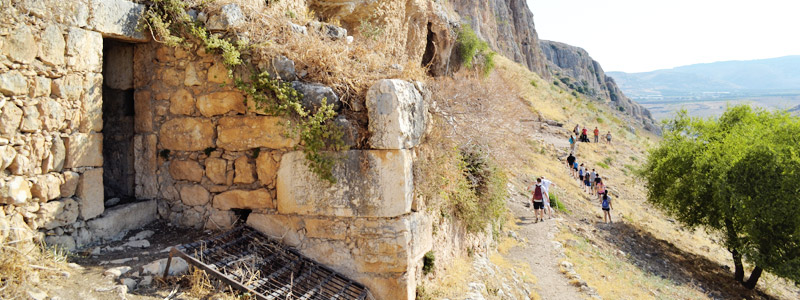 The steep cliffs of Mount Arbel in the Lower Galilee